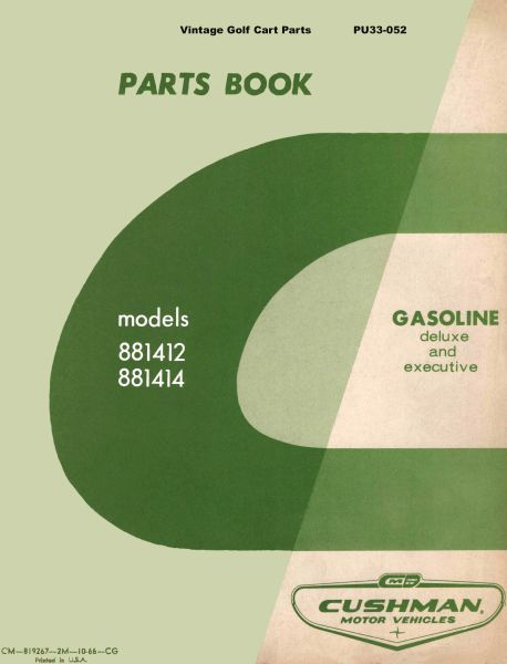 PU33-052 - Parts Manual, Gas, '67