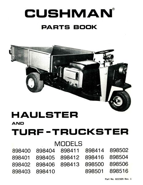 PU33-130 - Parts Manual, Gas, '70-'75