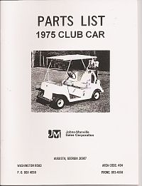 PU44-070 - Parts Manual, Electric, '75
