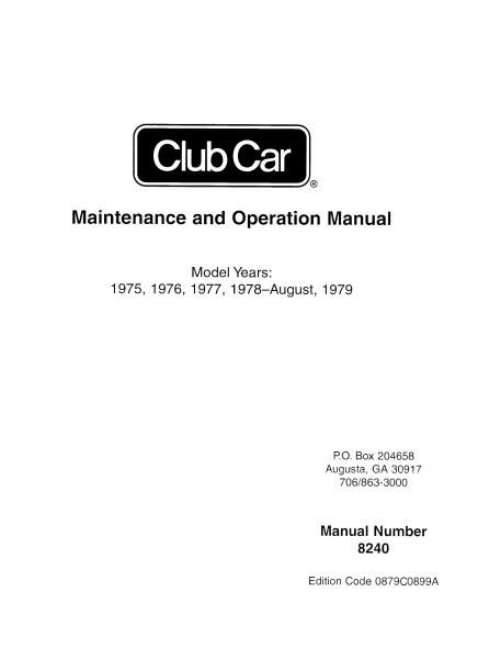 PU44-110 - Service Manual, Electric, '75-'79