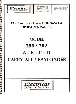 PU55-210 - Parts, Serv & Maint  Manual, '93, 280 & 282, A-B-C-D