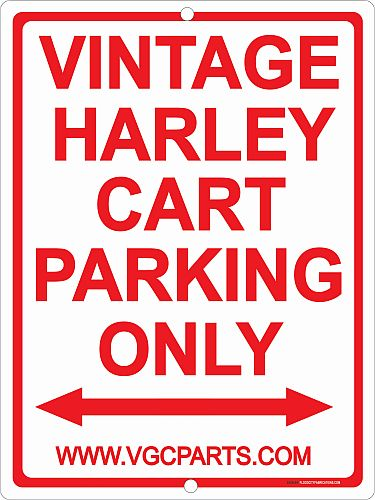 AC11-610 - Vintage Harley Cart Parking Only Sign