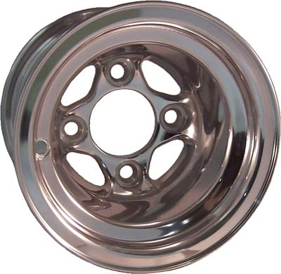 WM11-140 - Viking Polished Aluminum 8'' Wheel