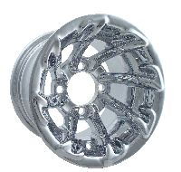 WM11-220 - Tiger Chrome Aluminum 10'' Wheel