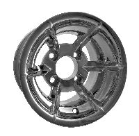 WM11-300 - Predator Polished Aluminum 10'' Wheel